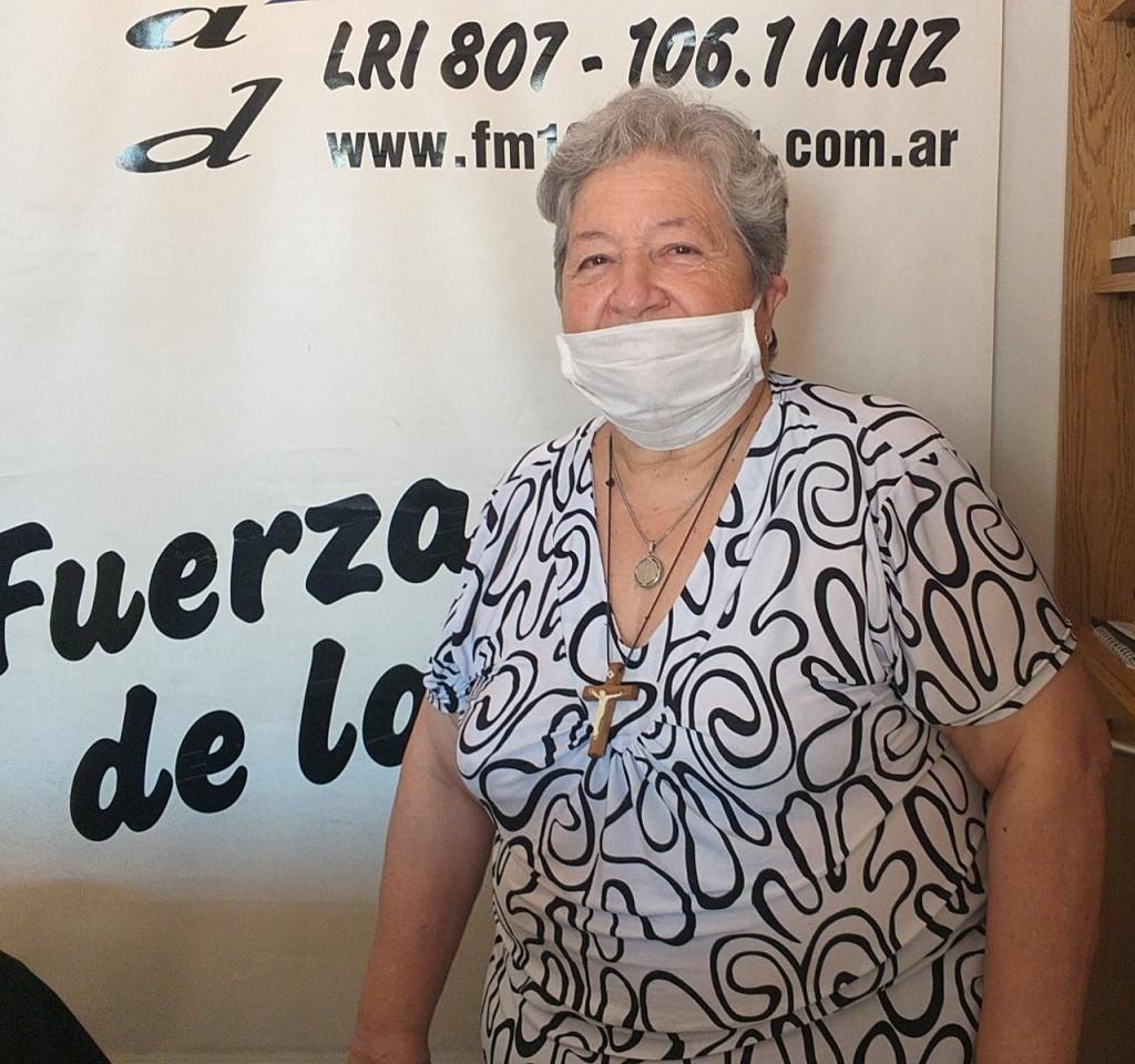 """Julia Rastel (Cáritas): """"Pedimos que la comunidad colabore con la liquidación de este lunes, ya que ese dinero se destina a obras solidarias"""""""