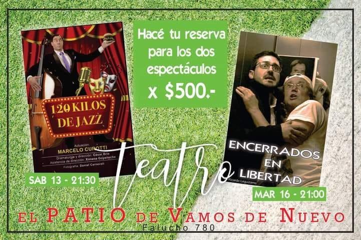 El teatro vuelve a la presencialidad en EL PATIO de la Biblioteca Alcira Cabrera