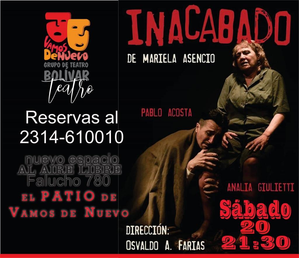 Una nueva presentación en EL PATIO de la biblioteca Alcira Cabrera: Inacabado, de Mariela Asencio