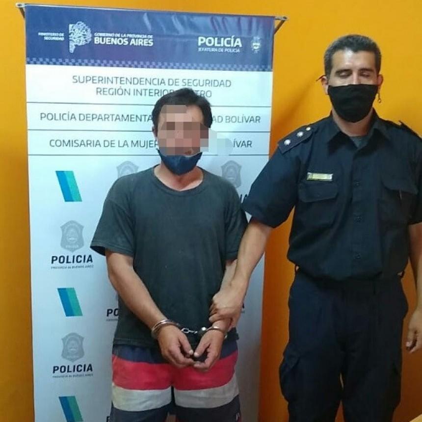 Información Oficial: Detención en Bolívar por un caso de violencia familiar