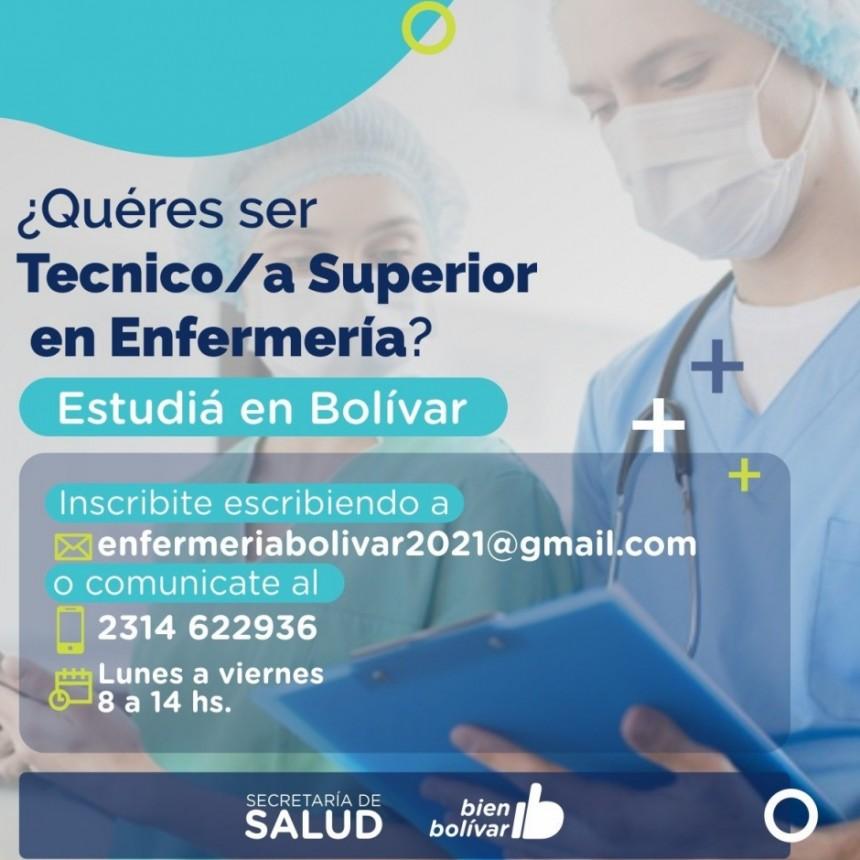 Se abrio la inscripción para la Tecnicatura en Enfermería