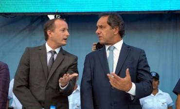 Daniel Scioli se volvió a mostrarse con Insaurralde en Lomas de Zamora