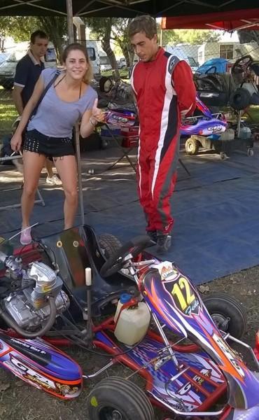Federico Díaz corrió la primera en el karting del oeste