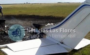 Cayó una avioneta en Las Flores