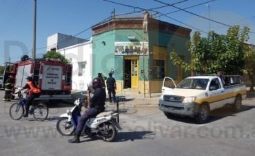 Principio de incendio en un comercio bolivarense