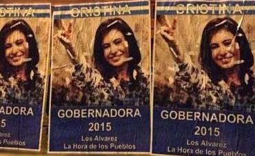 Aparecieron afiches que postulan a CFK a la provincia
