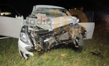 Violento choque en Ruta Provincial 65