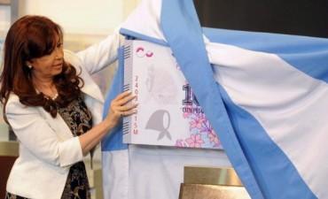 Presentaron un billete en homenaje a Madres y Abuelas de Plaza de Mayo