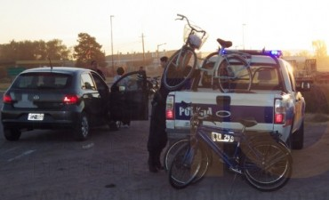 Un ciclista debió ser hospitalizado a raíz de un accidente de tránsito