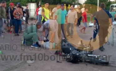 URGENTE: Grave accidente en la avenida Mariano Unzué