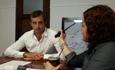 """Bucca: """"Las obras que están se continuarán, y es muy probable que en abril tengamos la visita de la Gobernadora Vidal"""""""