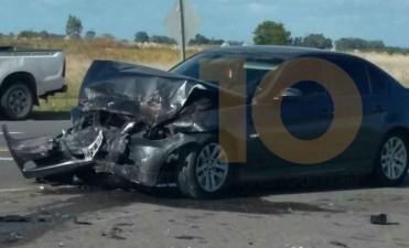 Ruta 205: Se registró un violento impacto a la altura de la bajada a Hale
