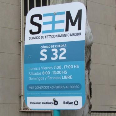 Extienden del Estacionamiento Medido: Abarca ahora la cuadra de avenida Belgrano desde el 100 al 199