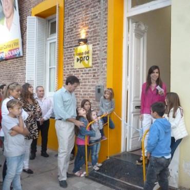 A 100 días del Gobierno de Macri, se inauguró la Casa Pro en Bolívar