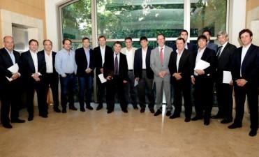 El Intendente participó de un encuentro con el Presidente del Grupo Provincia