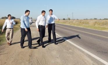 Bucca, Barroso, Mosca y Vivani, recorrieron la Ruta 65: Se anunció la repavimentación del tramo Bolívar – 9 de Julio