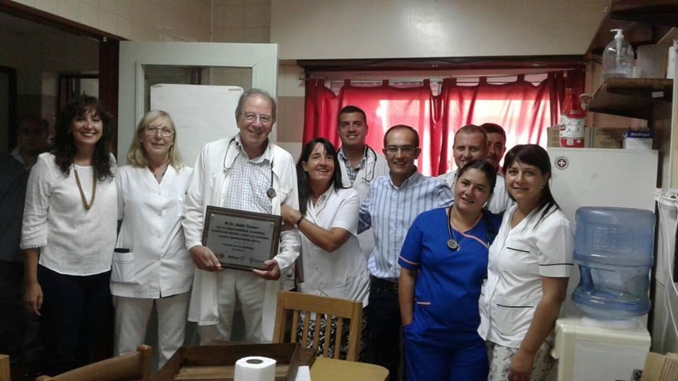 Se jubiló el Doctor Julián Tessari como médico del Hospital 'Capredoni'