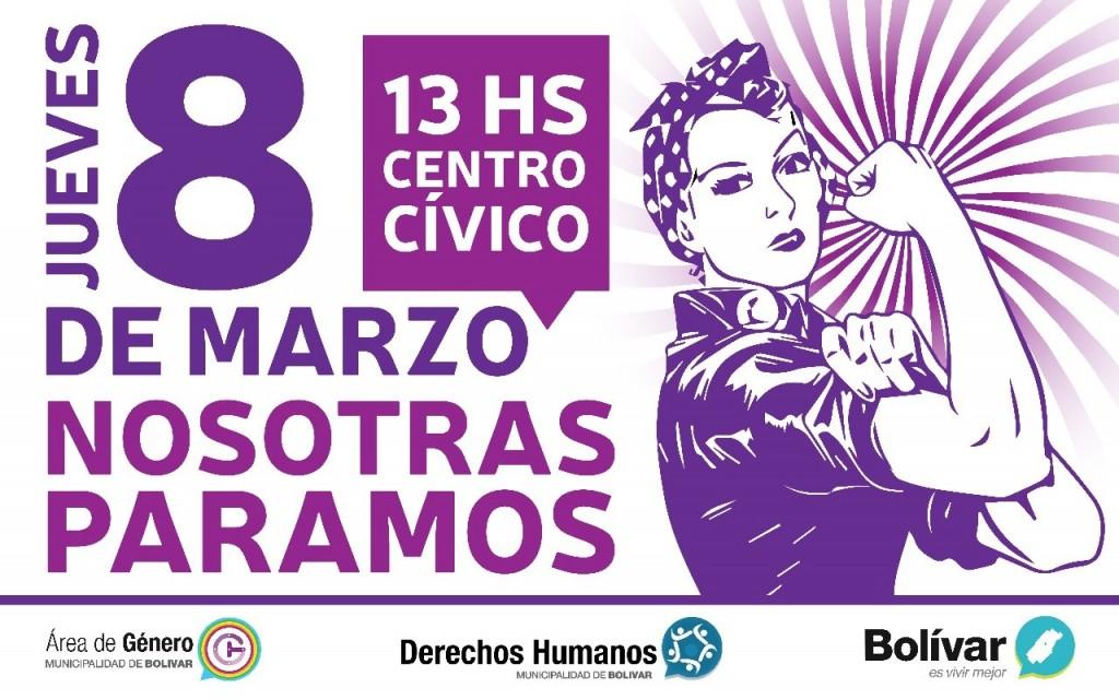 Derechos Humanos adhiere al paro internacional de mujeres