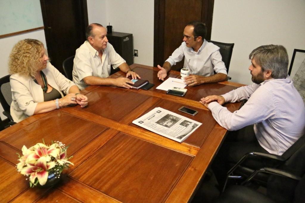 El intendente Pisano recibió a Ricardo Criado