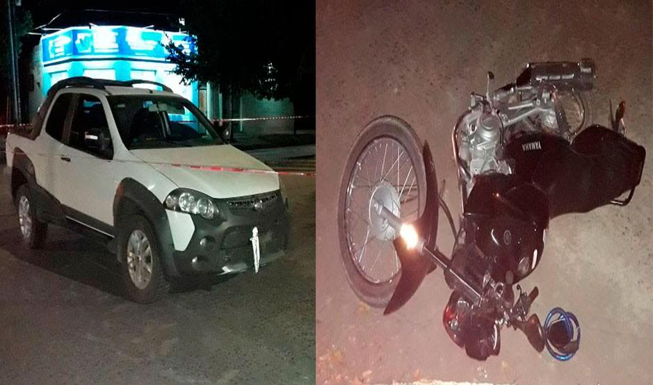 Dieron de alta a la motociclista que protagonizó el accidente