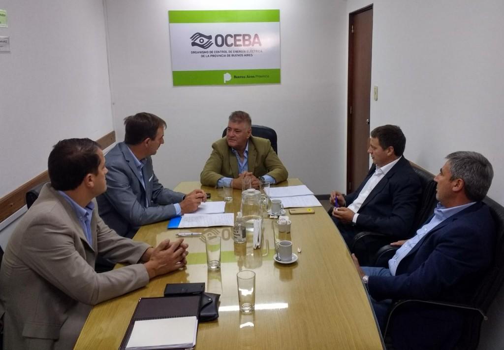 Morán y los concejales de Cambiemos llevaron la crisis energética de Bolívar al OCEBA