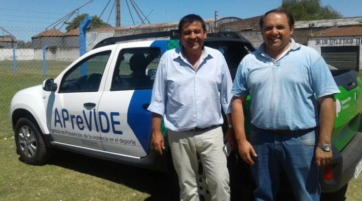 Secretario de APreViDe recorrió las canchas de Bolívar