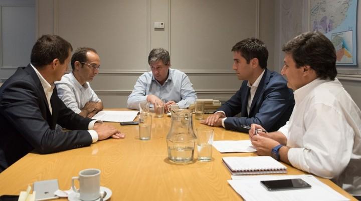 Mosca, Bucca y Pisano se reunieron con el ministro Gigante