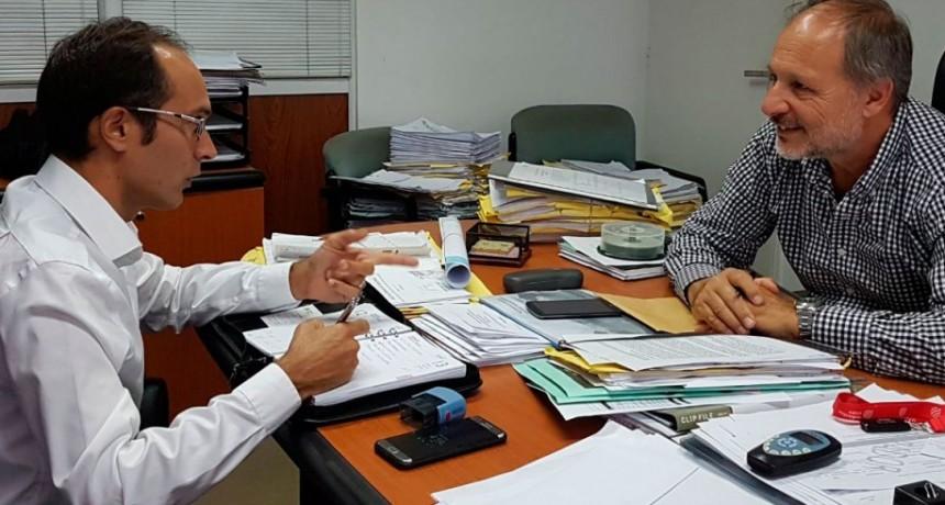 Pisano se reunió con el Director de Hidráulica