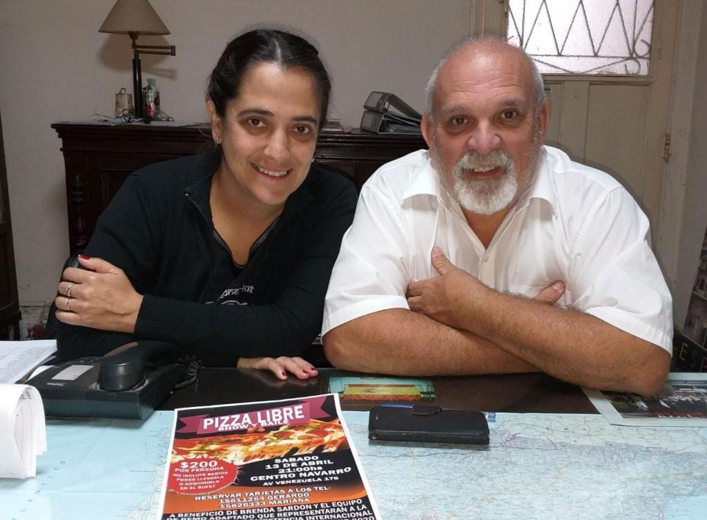 Pizzeada, Show y Baile en beneficio de Brenda Sardón y el equipo argentino de remo adaptado