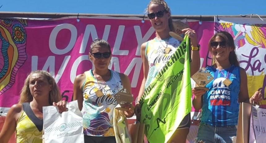 Gaby Ríos logró el 2º puesto de su categoría en el Maratón de la mujer en Necochea