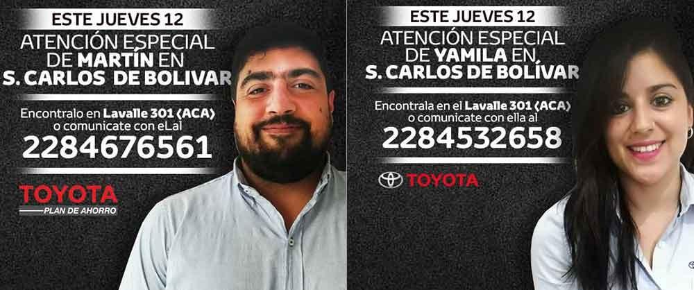 Catriel Mapu atiende hoy en Bolívar; solo así llegas más fácil a tu Toyota 0KM