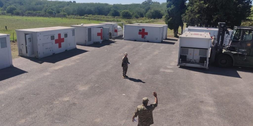 El Hospital Militar Reubicable se desplegó en Campo de Mayo