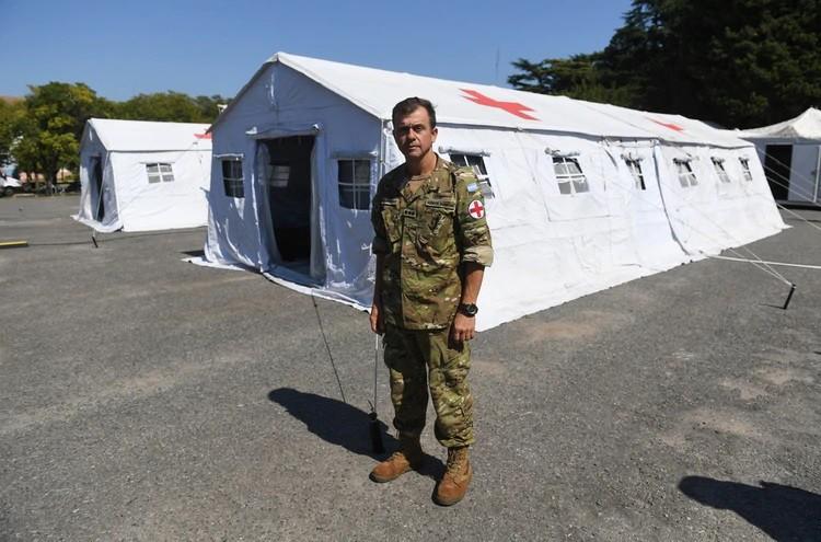 Así funciona el moderno Hospital Militar Reubicable que el Ejército Argentino alistó para combatir al coronavirus