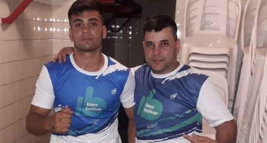 Gran presentación de Facundo García en el festival boxístico de Azul