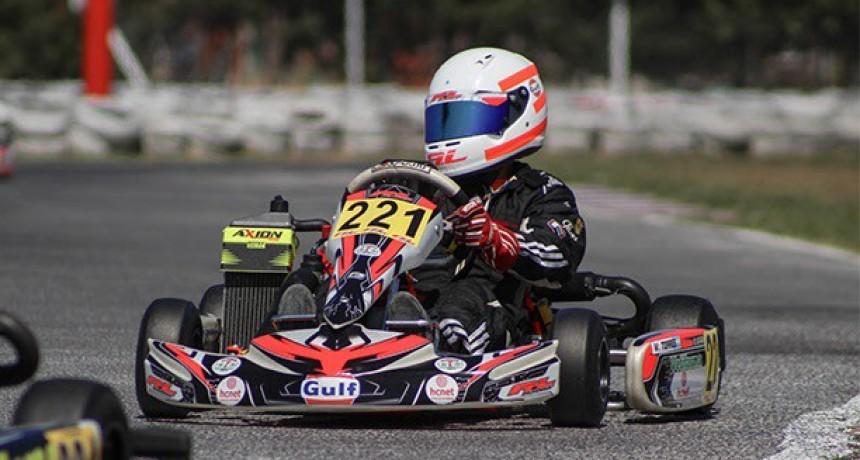 Valentino Torres dio buena pelea en la fecha inaugural de Rotax Buenos Aires