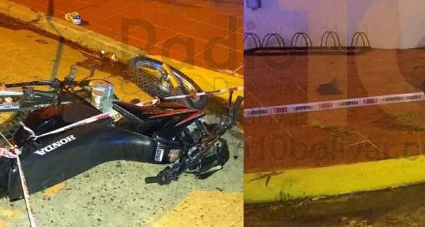 Violento impacto entre dos motocicletas dejo como consecuencia tres personas hospitalizados con lesiones graves