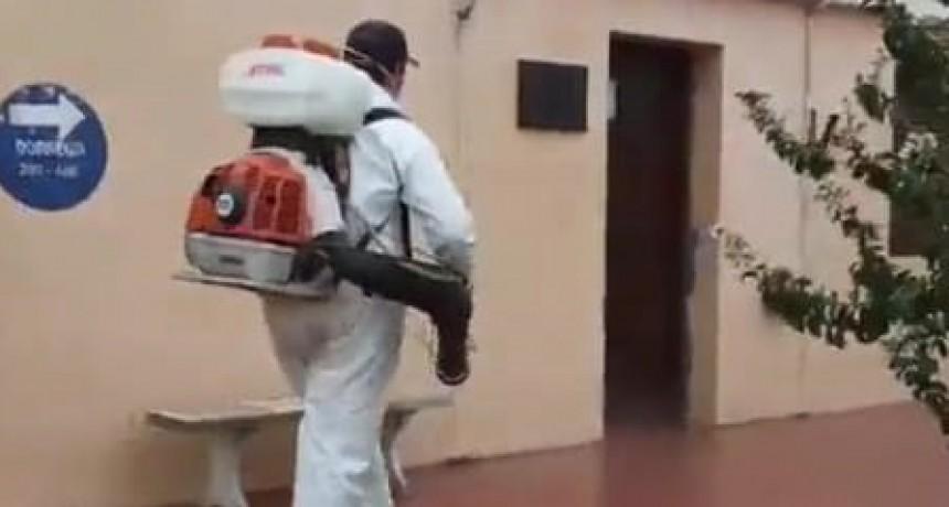 Se realiza un gran trabajo de desinfección en la calles de la ciudad (video)