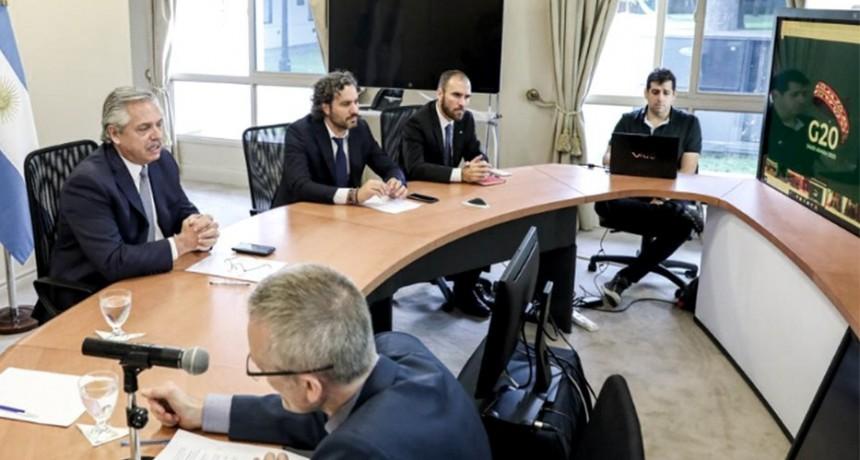 Alberto Fernández le pidió al G-20 un 'fondo de emergencia humanitaria'