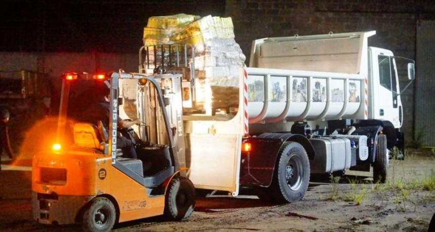 Emergencia Sanitaria; Pisano gestionó provisiones de alimentos desde provincia