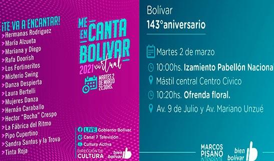 Por Decreto Municipal, habrá Asueto Administrativo este martes en el aniversario 143° de Bolívar