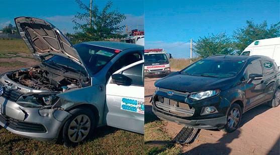 Fuerte impacto entre dos vehículos en barrio La Ganadera
