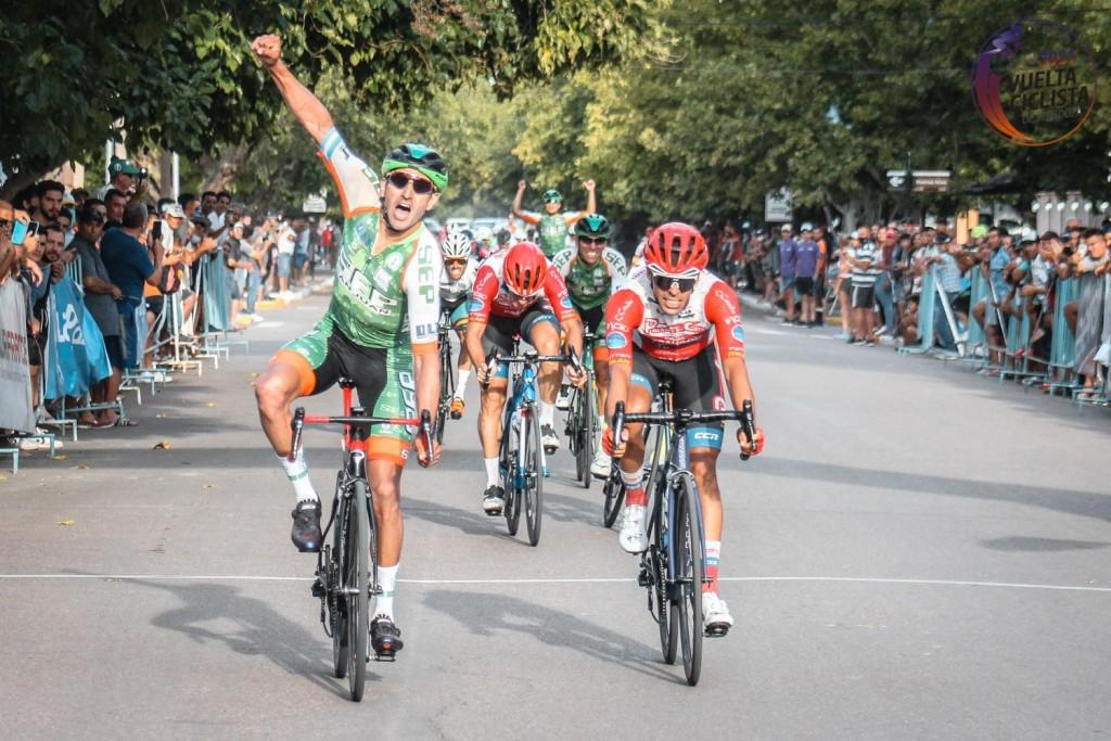 Juan Pablo Dotti de nuevo en lo más alto, se quedó con la quinta etapa de la Vuelta de Mandoza