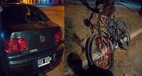 Un ciclista hospitalizado a raíz de una colisión