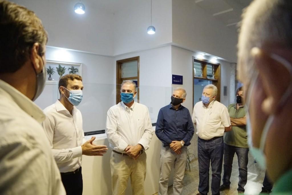 Importante visita de directivos a la Cooperativa Eléctrica de Bolívar