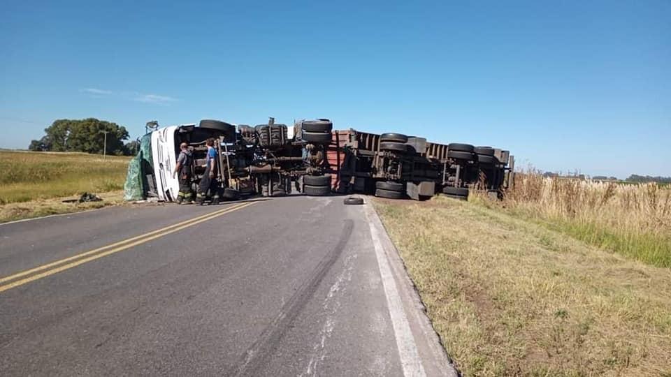Un fin de semana signado de accidente con camiones involucrados