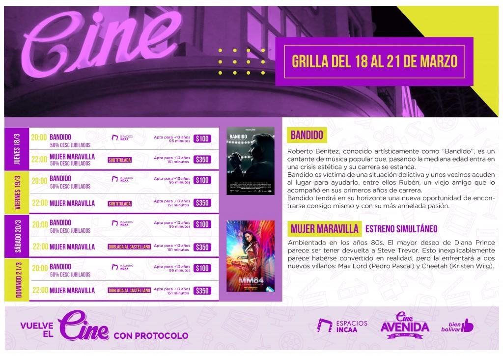 Del jueves 18 al domingo 21 de marzo: Programación Cine Avenida