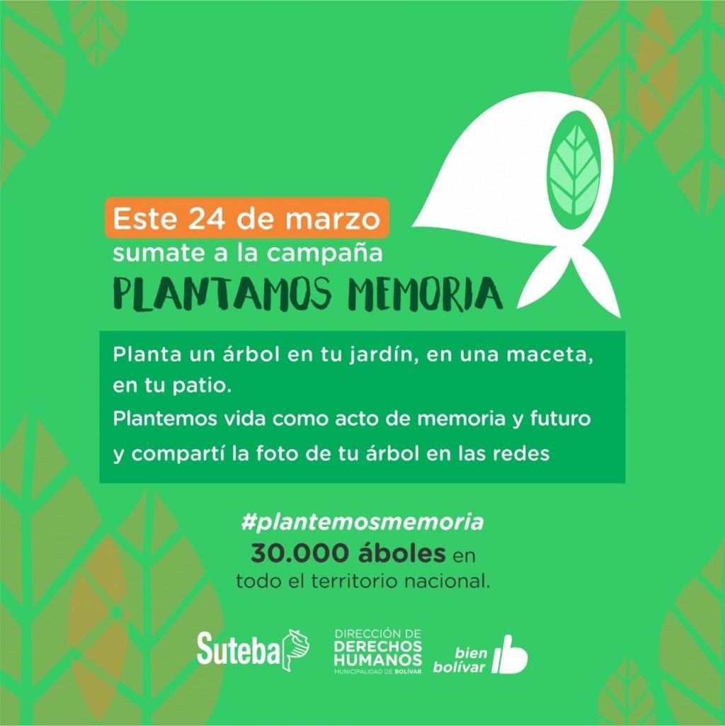 Día de la memoria: DDHH plantará árboles para recordar a nuestros desaparecidos