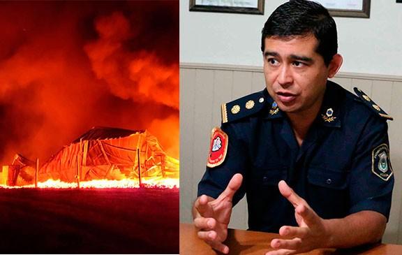 Tandil: Se incendió casi por completo la planta de corte y envasado de carne de cerdo de Cagnoli