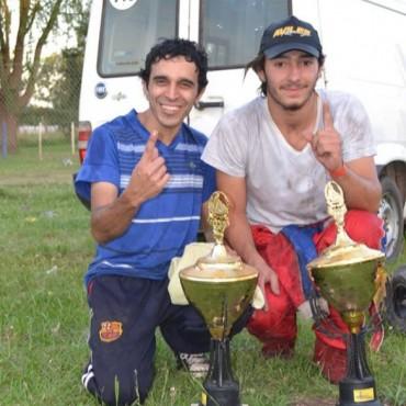 Santiago Fuentes participó en el Karting del Oeste y logró un primer puesto en la 125 cc Libre