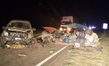 Fuerte impacto en Ruta Provincial 65 en inmediaciones de la localidad de Daireaux